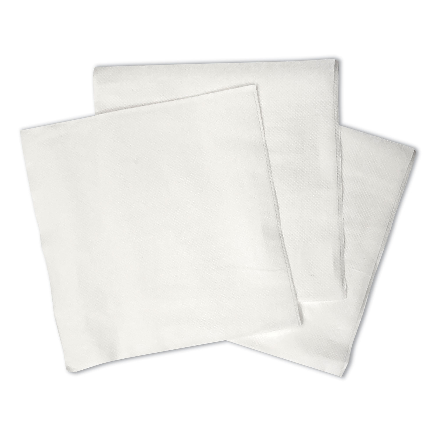 "1/4-Fold Lunch Napkins, 1-Ply, 12"" x 12"", White, 6000/Carton"
