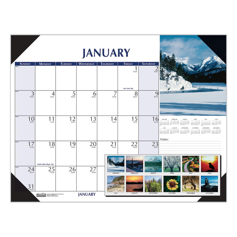Earthscapes Scenic Desk Pad Calendar, 22 x 17, 2021