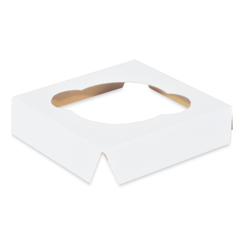 Cupcake Holder Inserts, Paperboard, White/Kraft, 4.38 x 4.38 x 0.88, 200/Carton