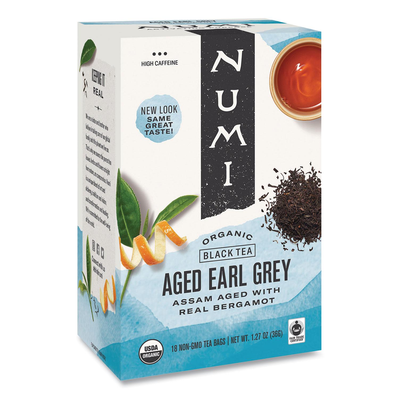 Organic Teas and Teasans, 1.27 oz, Aged Earl Grey, 18/Box