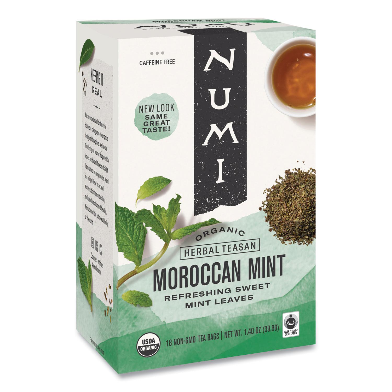 Organic Teas and Teasans, 1.4 oz, Moroccan Mint, 18/Box