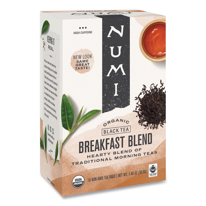 Organic Teas and Teasans, 1.4 oz, Breakfast Blend, 18/Box