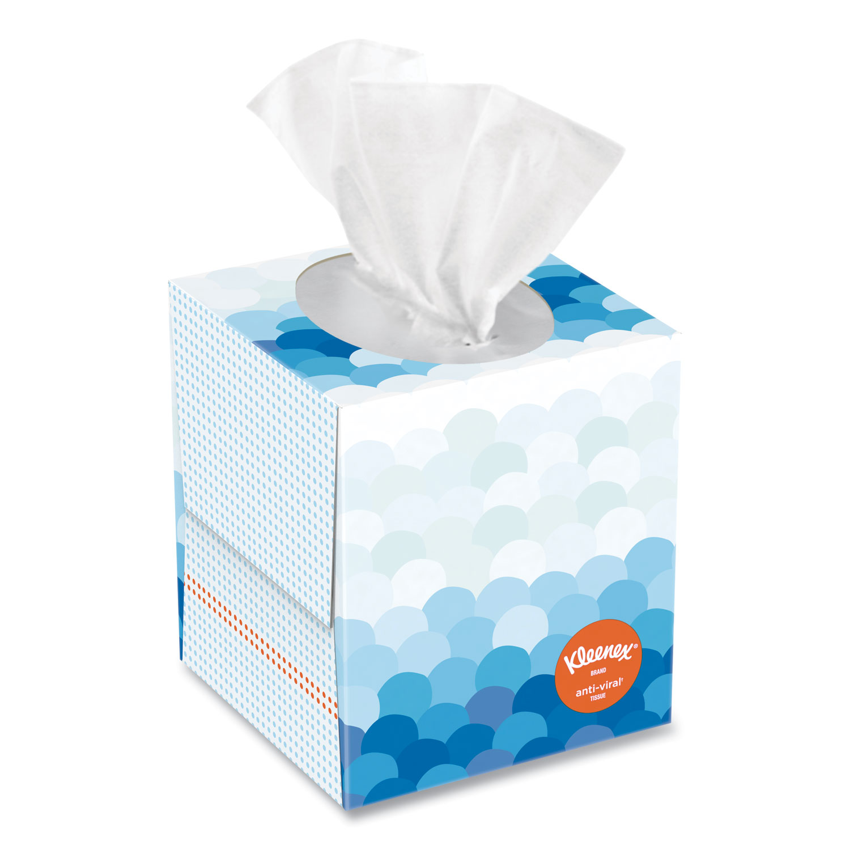 Anti-Viral Facial Tissue, 3-Ply, White, 60 Sheets/Box