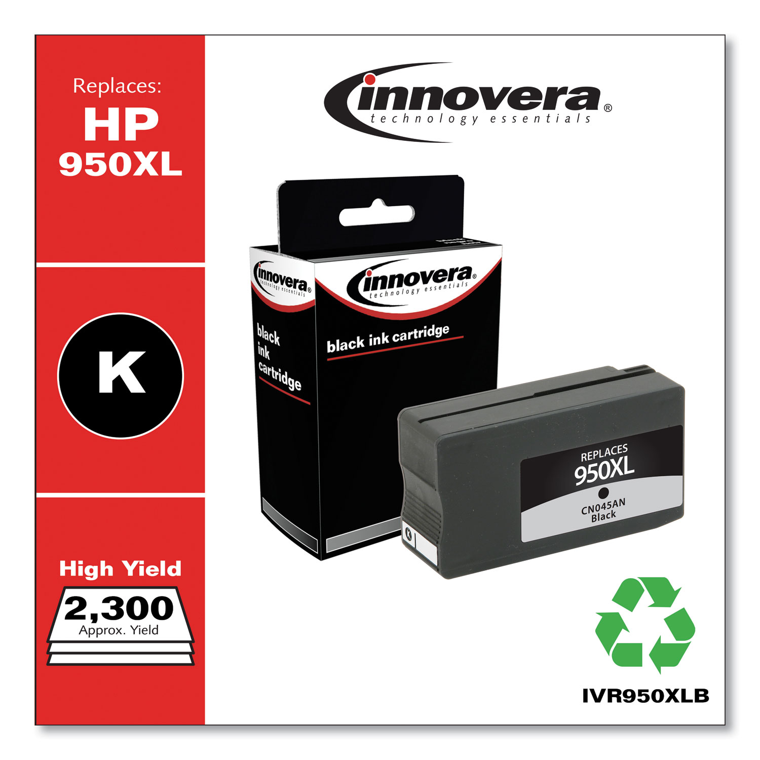 Remanufactured CN045AN (950XL) High-Yield Ink, 2300 Page-Yield, Black