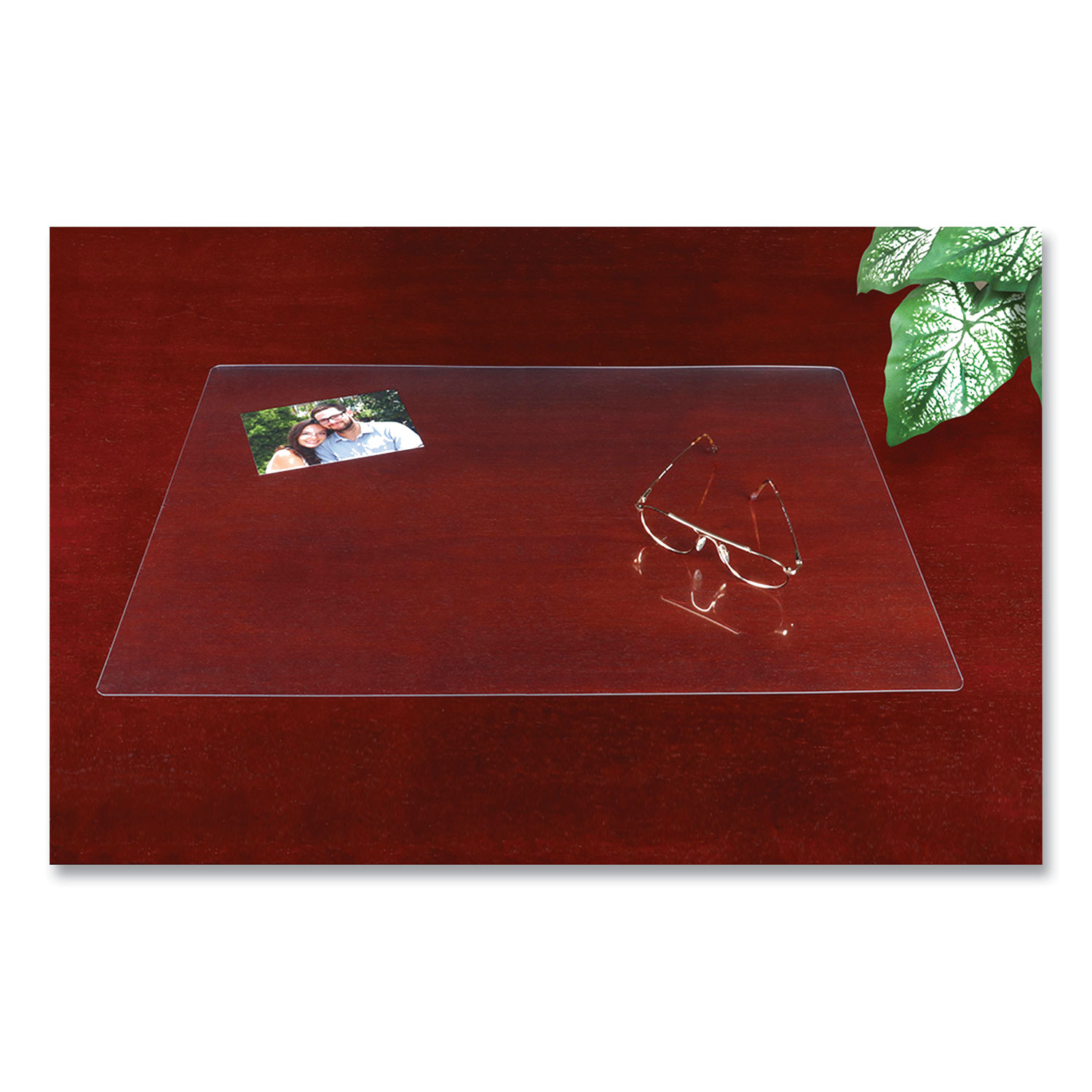 Eco-Clear Desk Pad with Antimicrobial Protection, 19 x 24, Clear Polyurethane