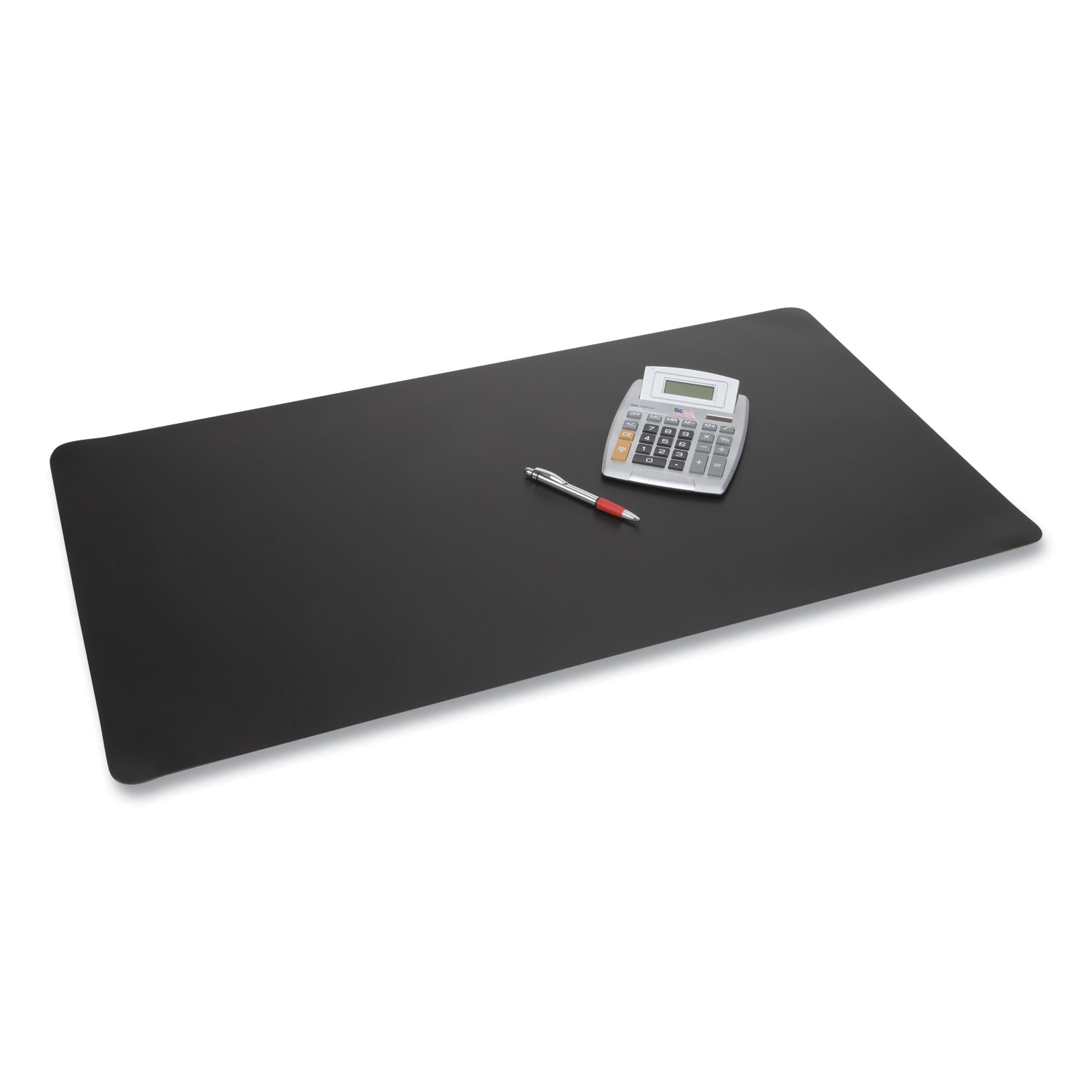 Rhinolin II Desk Pad with Antimicrobial Product Protection, 17 x 12, Black