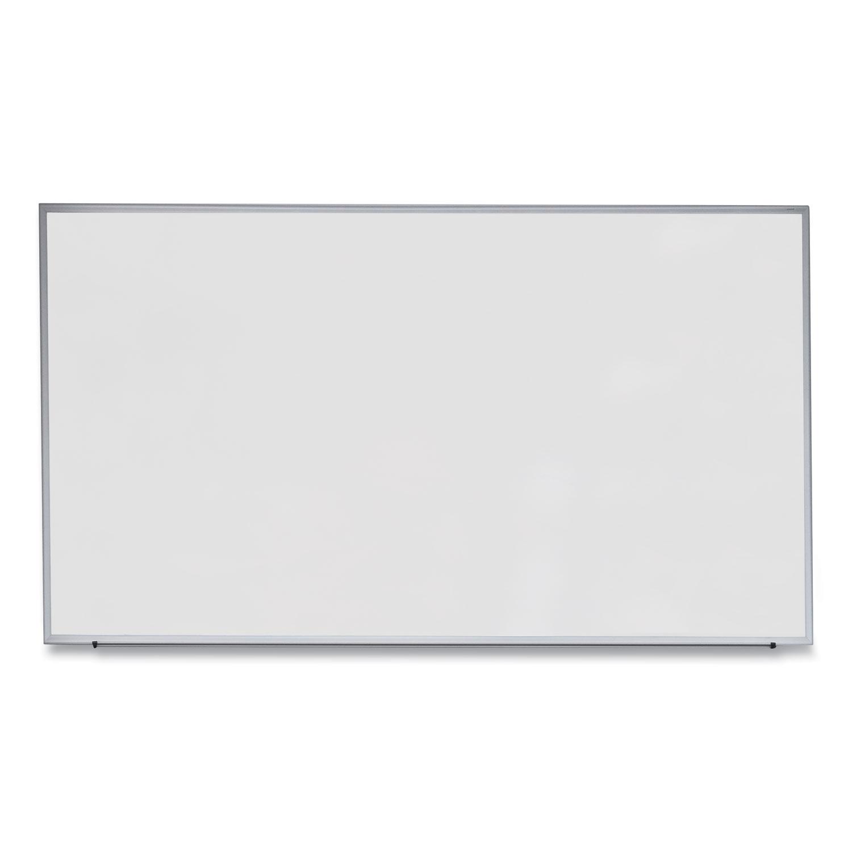 Dry Erase Board, Melamine, 72 x 48, Satin-Finished Aluminum Frame