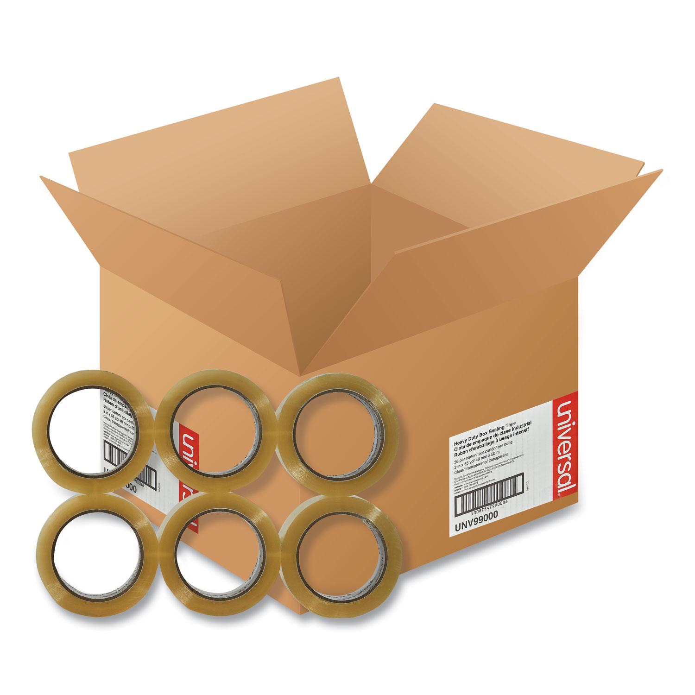 "Heavy-Duty Box Sealing Tape, 3"" Core, 1.88"" x 54.6 yds, Clear, 36/Box"