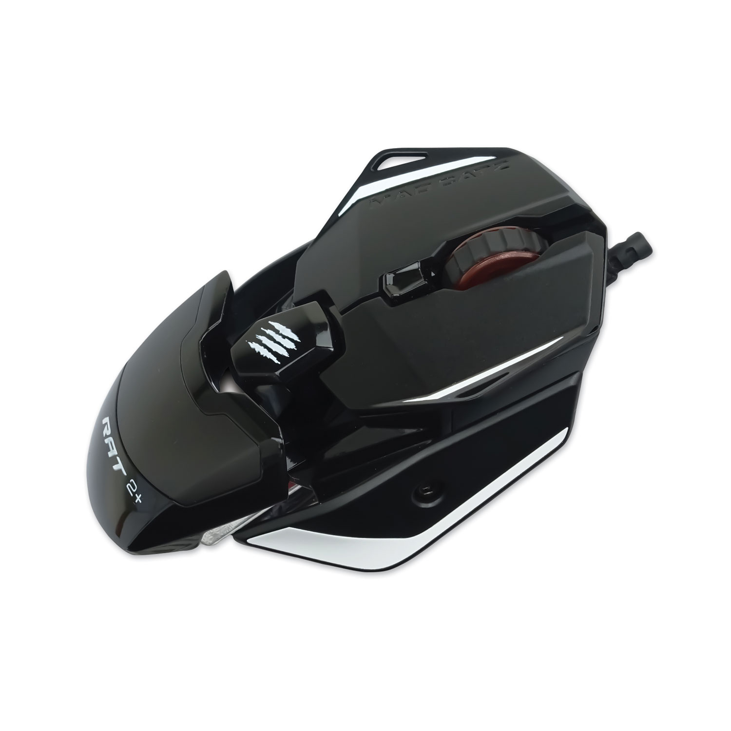Authentic R.A.T. 2 Plus Optical Gaming Mouse, USB 2.0, Left/Right Hand Use, Black