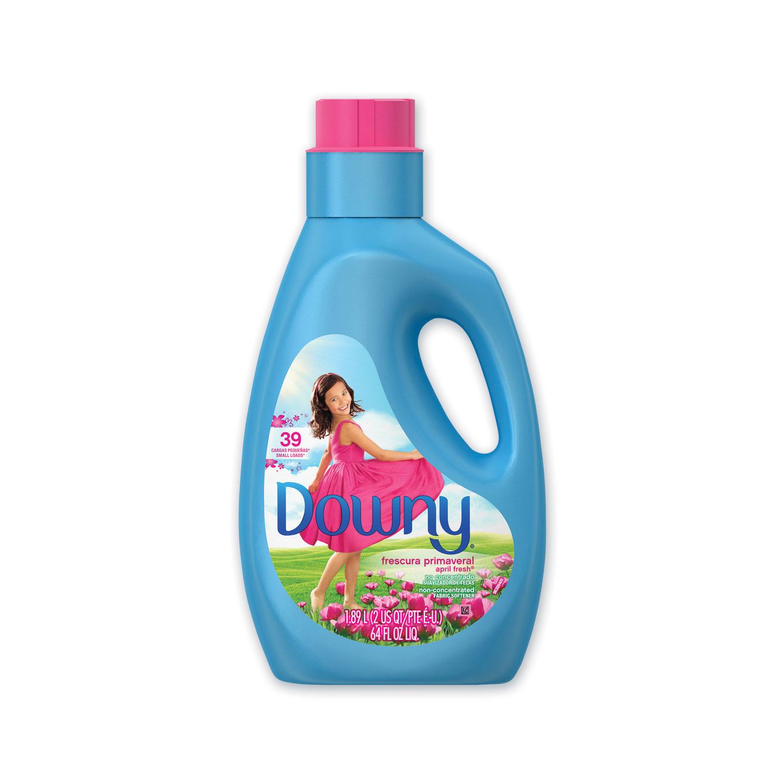 Downy® Liquid Fabric Softener, April Fresh, 39 Loads, 64 oz Bottle, 4/Carton