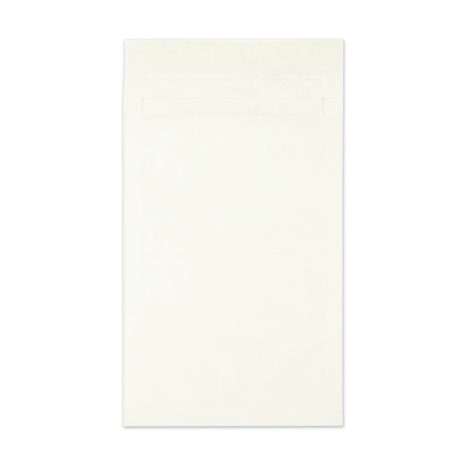 Open End Expansion Mailers, DuPont Tyvek, #15 1/2, Cheese Blade Flap, Redi-Strip Closure, 12 x 16, White, 100/Carton