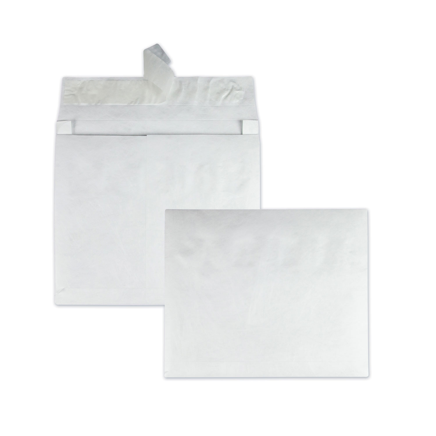 Open Side Expansion Mailers, DuPont Tyvek, #15 1/2, Commercial Flap, Redi-Strip Closure, 12 x 16, White, 100/Carton