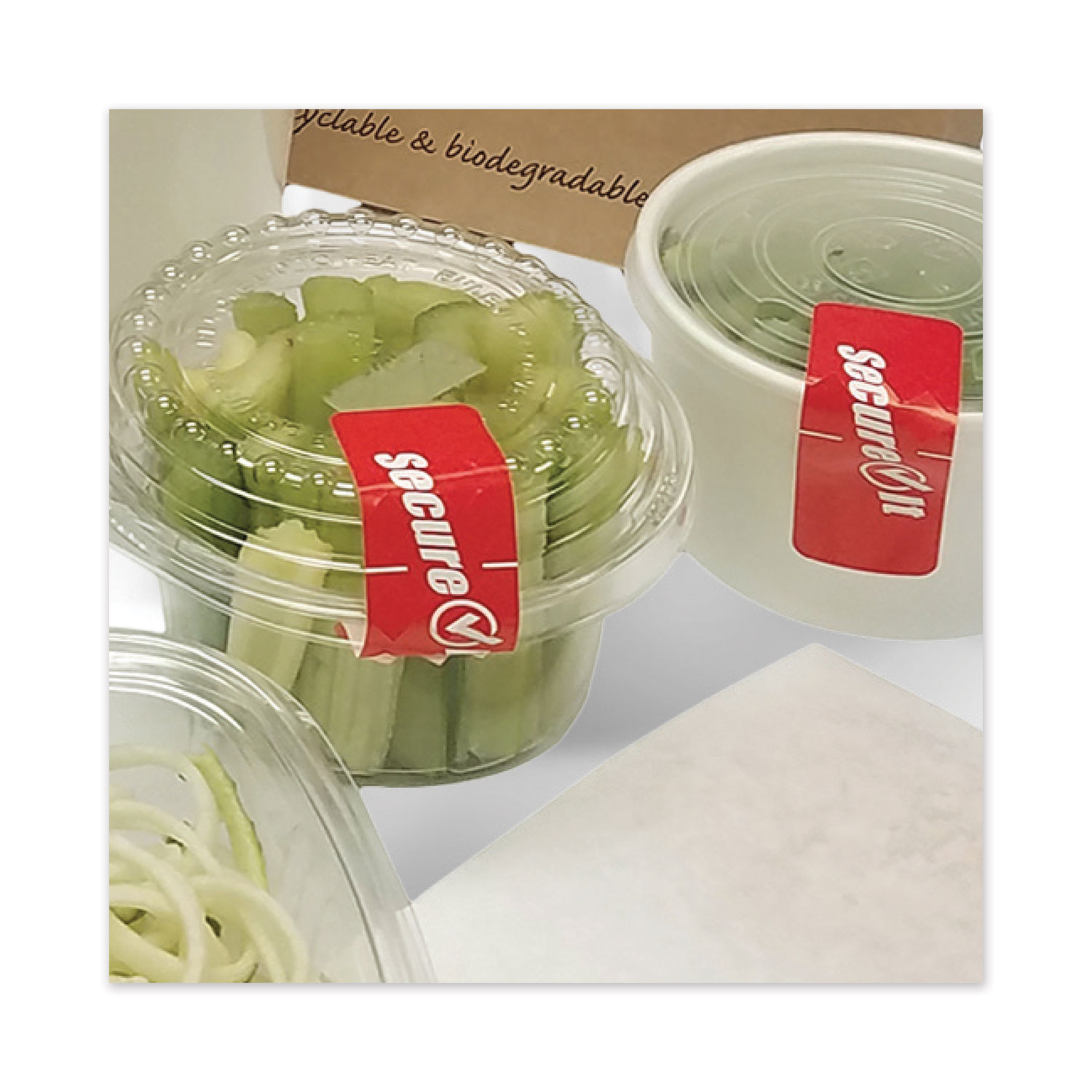 National Checking Company™ SecureIT Tamper Evident Food Container Seal, Secure It, 1 x 3, Red, 250/Roll, 2 Rolls/Pack