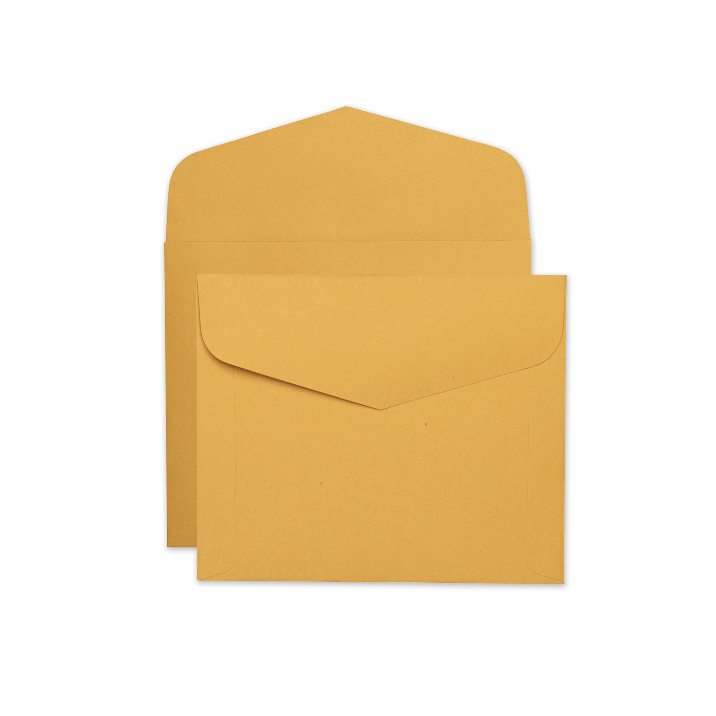 Open-Side Booklet Envelope, #13 1/2, Hub Flap, Gummed Closure, 10 x 12, Brown Kraft, 100/Box