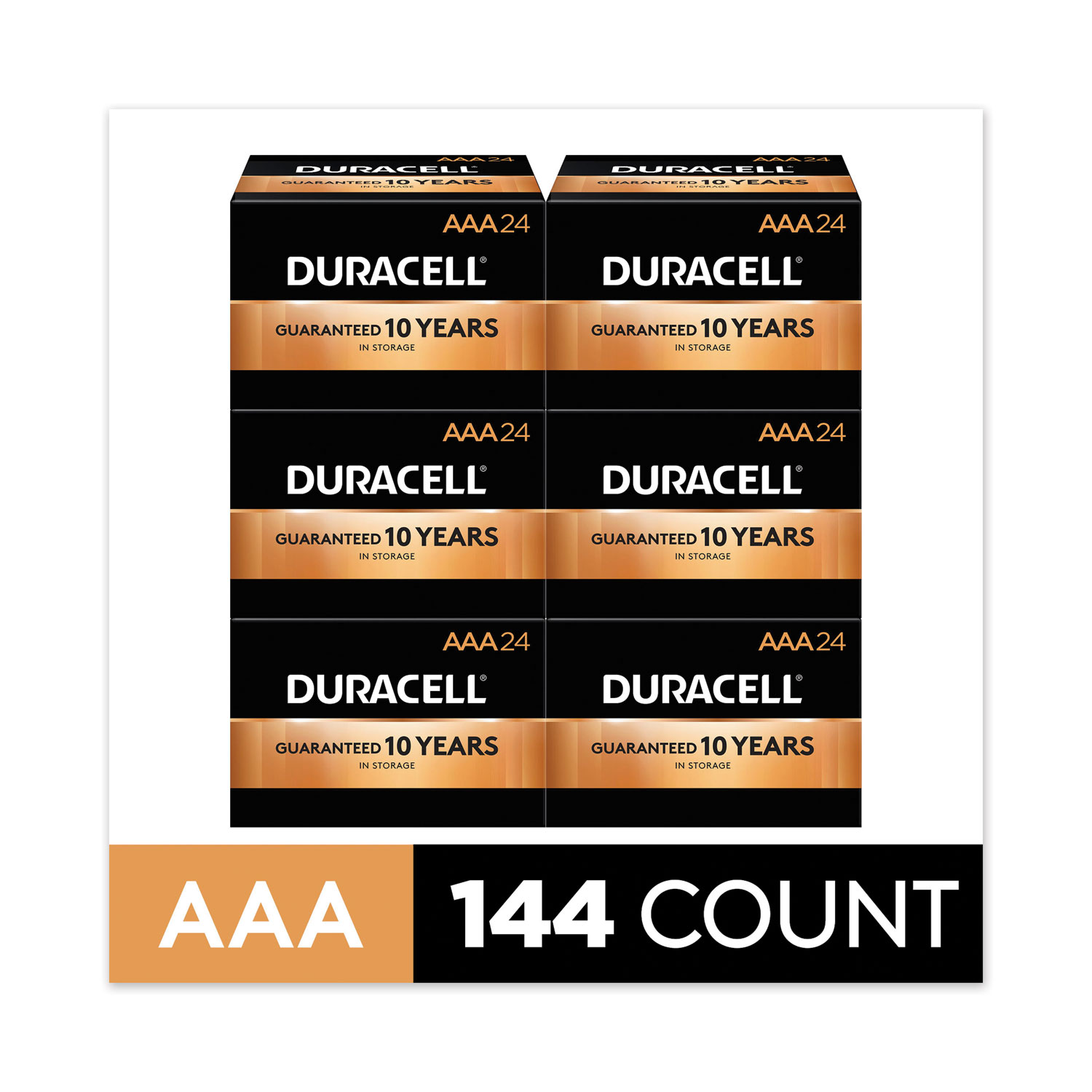 CopperTop Alkaline AAA Batteries, 144/Carton