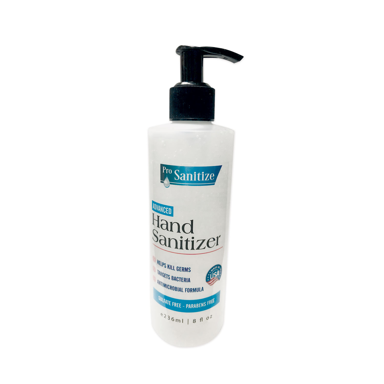 ProSanitize Hand Sanitizer, 8 oz Bottle, Unscented, 12/Carton