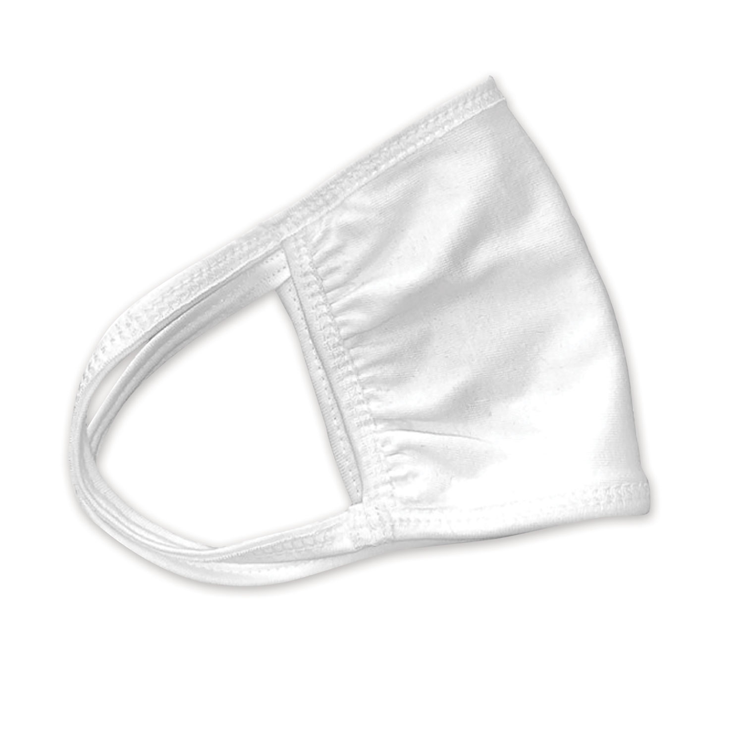 Cotton Face Mask with Antimicrobial Finish, White, 600/Carton