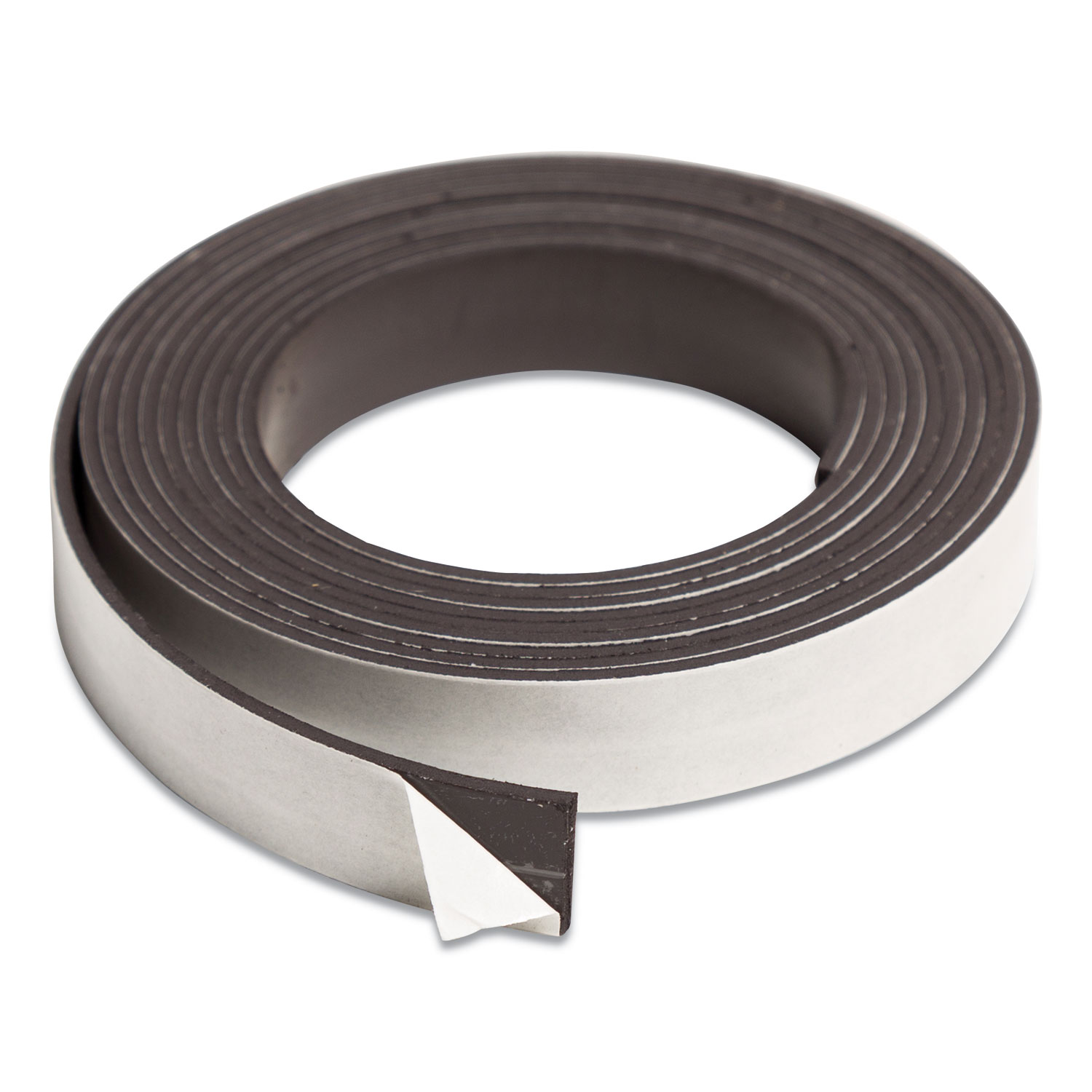 """Magnetic Adhesive Tape Roll, 0.5"""" x 7 ft, Black, 1/Roll"""