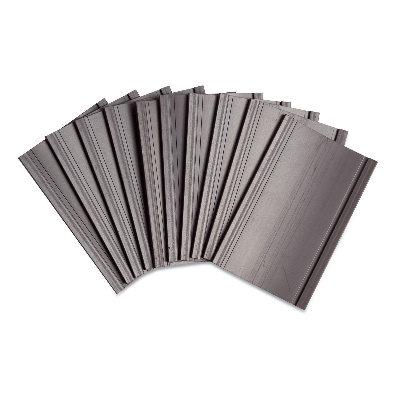 U Brands Magnetic Card Holders, 3 x 1.75, Black, 10/Pack