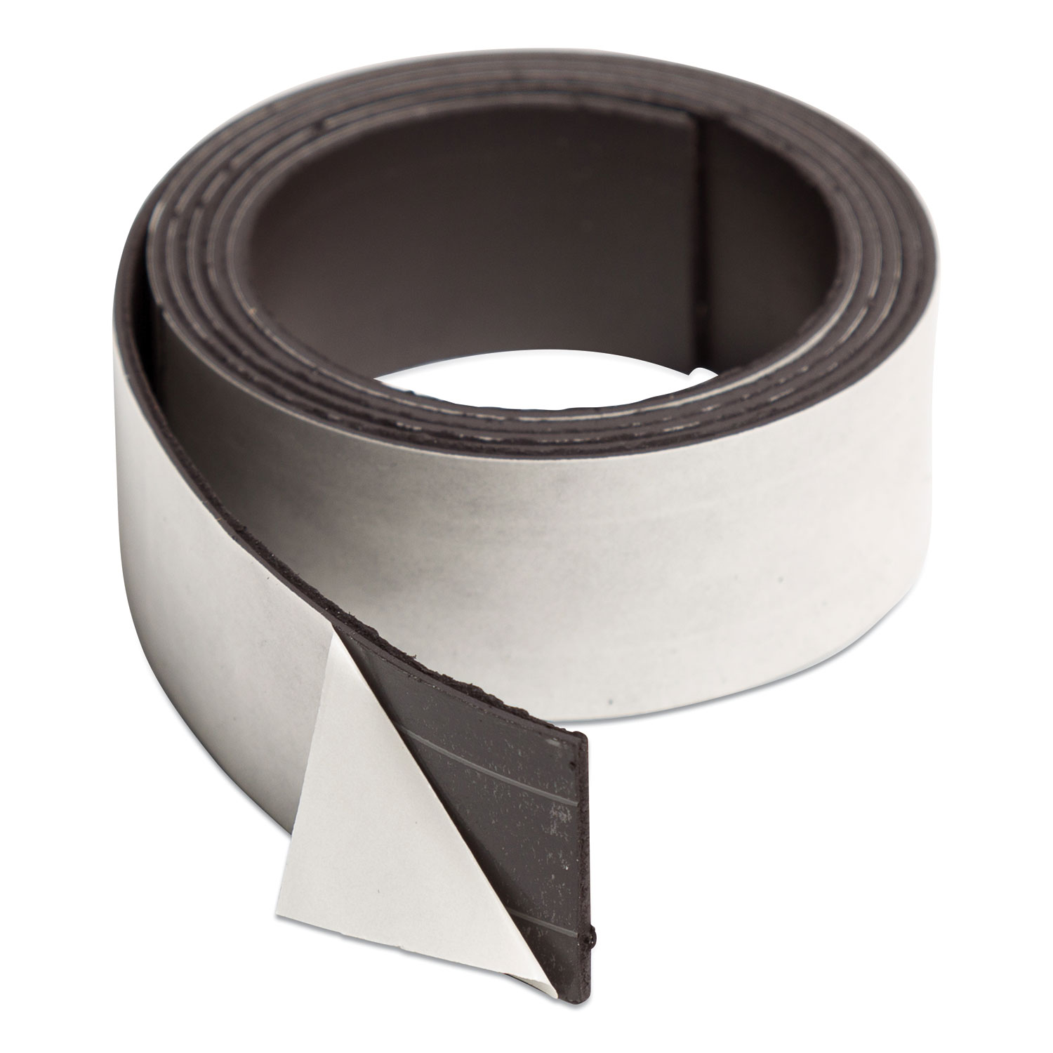 """Magnetic Adhesive Tape Roll, 1"""" x 4 ft, Black, 1 Roll"""