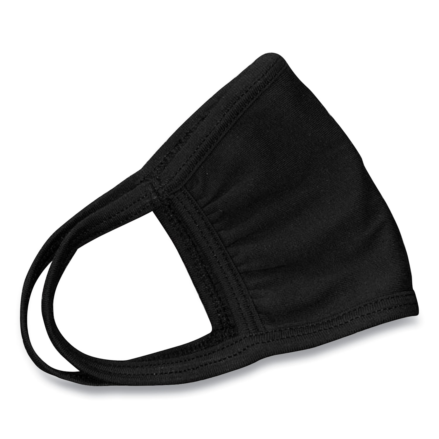 Cotton Face Mask with Antimicrobial Finish, Black, 600/Carton