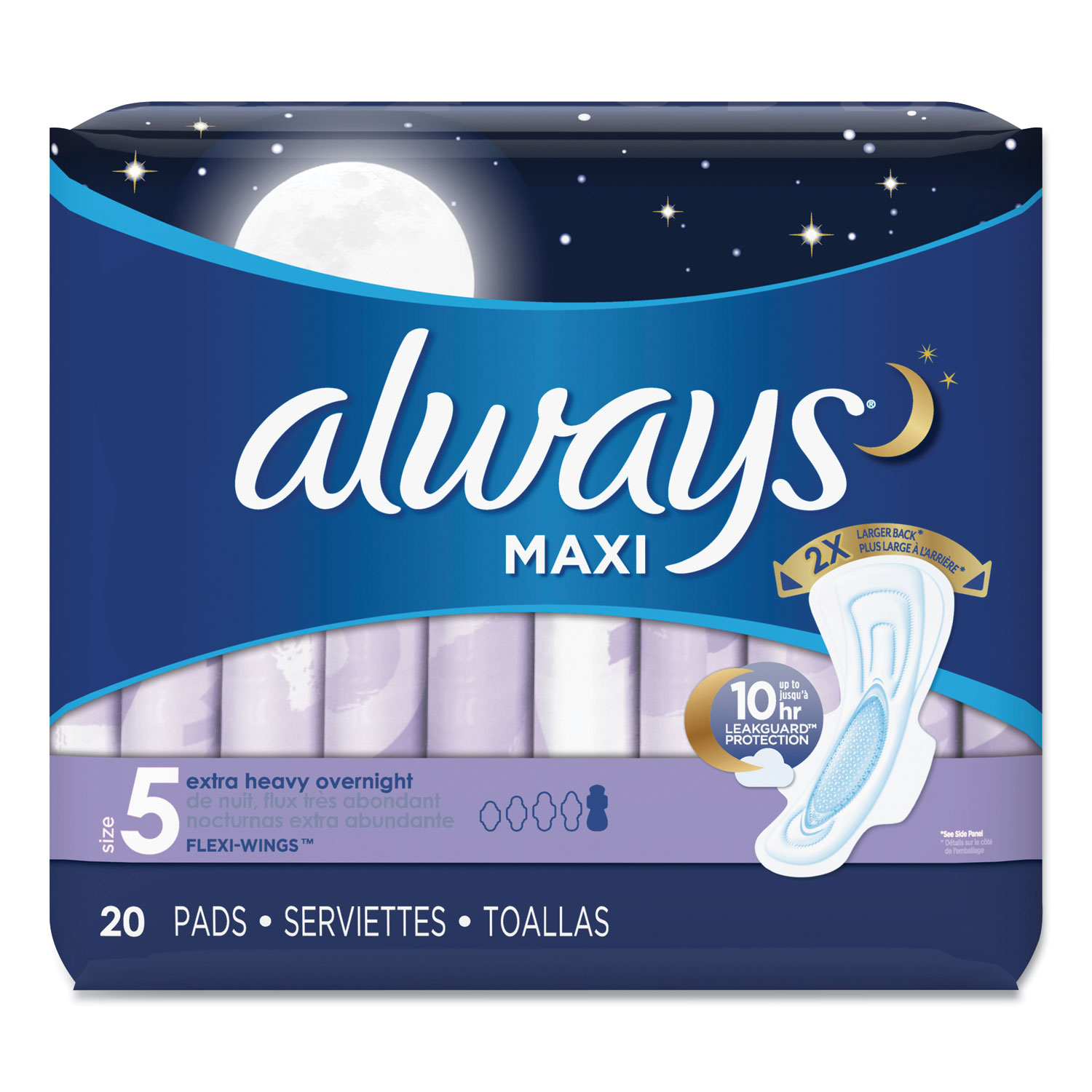 Maxi Pads, Extra Heavy Overnight, 20/Pack
