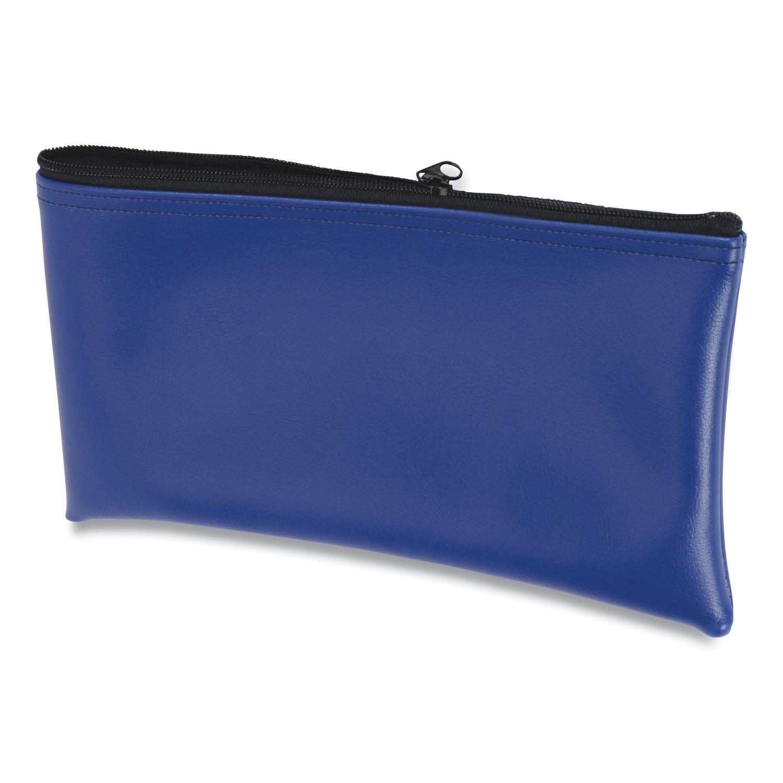CONTROLTEK® Fabric Deposit Bag, 6 x 11 x 1, Vinyl, Blue