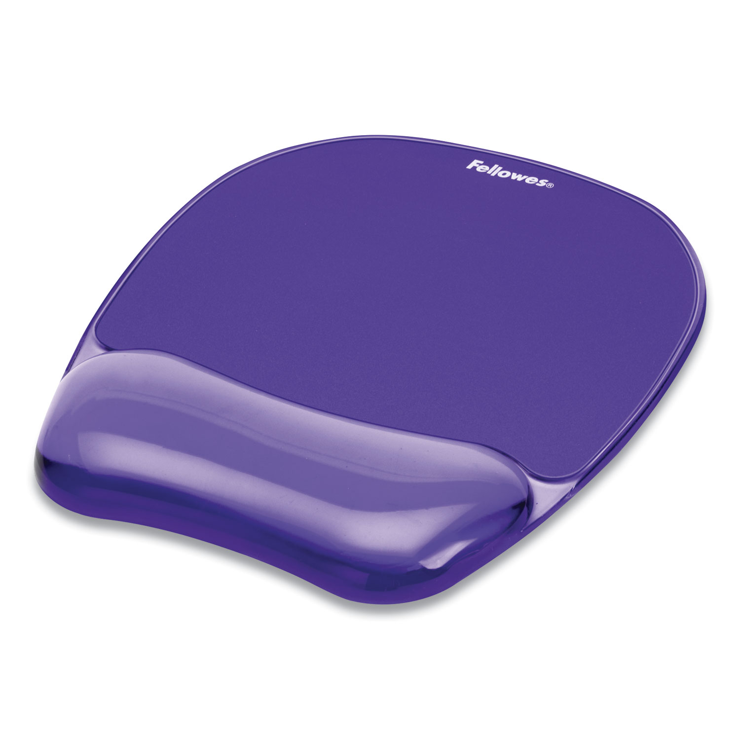 """Gel Crystals Mouse Pad with Wrist Rest, 7.87"""" x 9.18"""", Purple"""