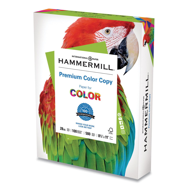 Premium Color Copy Print Paper, 100 Bright, 28lb, 8.5 x 11, Photo White, 500/Ream
