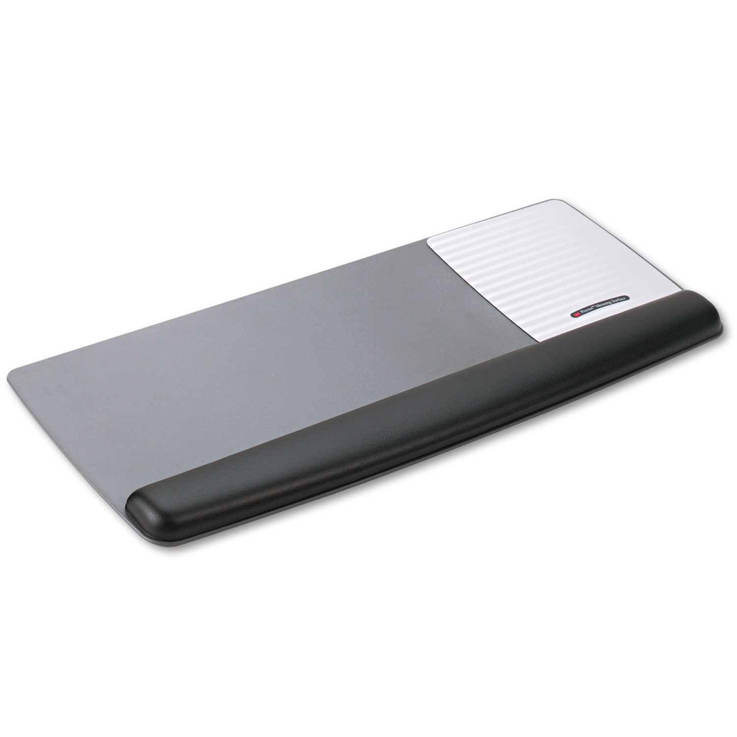 Antimicrobial Gel Mouse Pad/Keyboard Wrist Rest Platform, Black/Silver