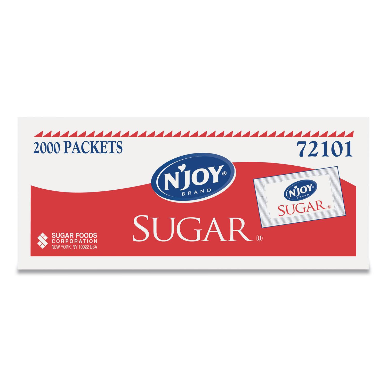 NJoy Sugar Packets, 0.1 oz, 2,000 Packets/Box