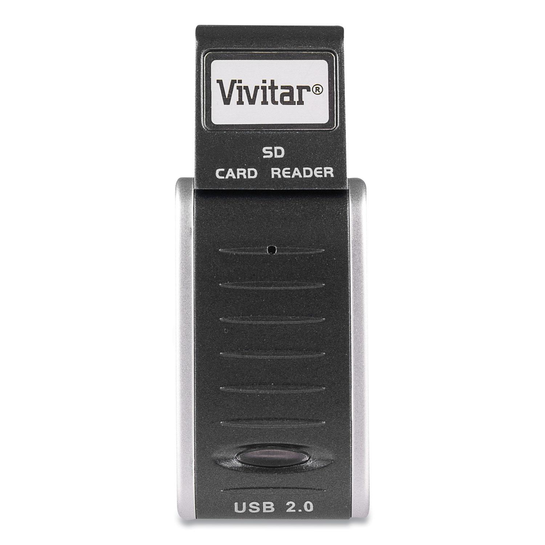 Vivitar® RW-SD Secure Digital Card Reader/Writer, USB 2.0, Mac OS/PC