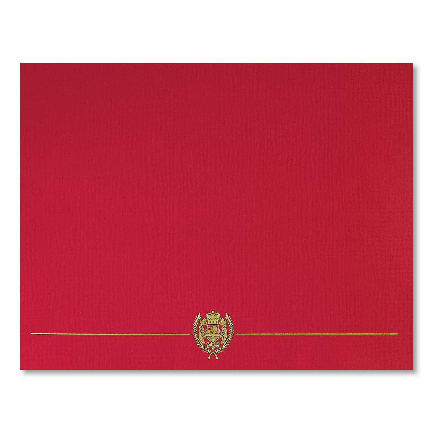 Great Papers!® Classic Crest Certificate Covers, 9.38 x 12, Red, 5/Pack