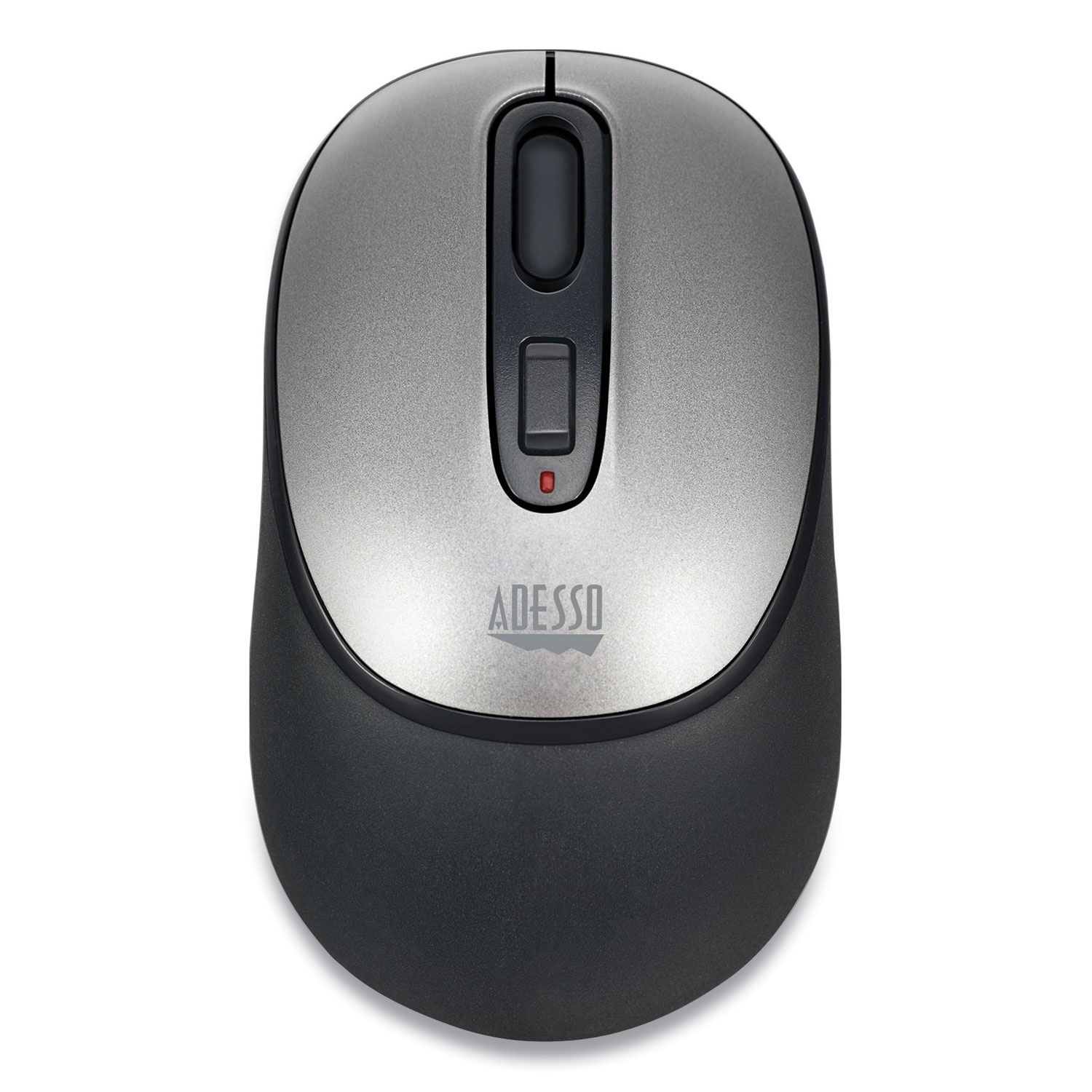 Adesso iMouse A10 Antimicrobial Wireless Mouse, 2.4 GHz Frequency/30 ft Wireless Range, Left/Right Hand Use, Black/Silver