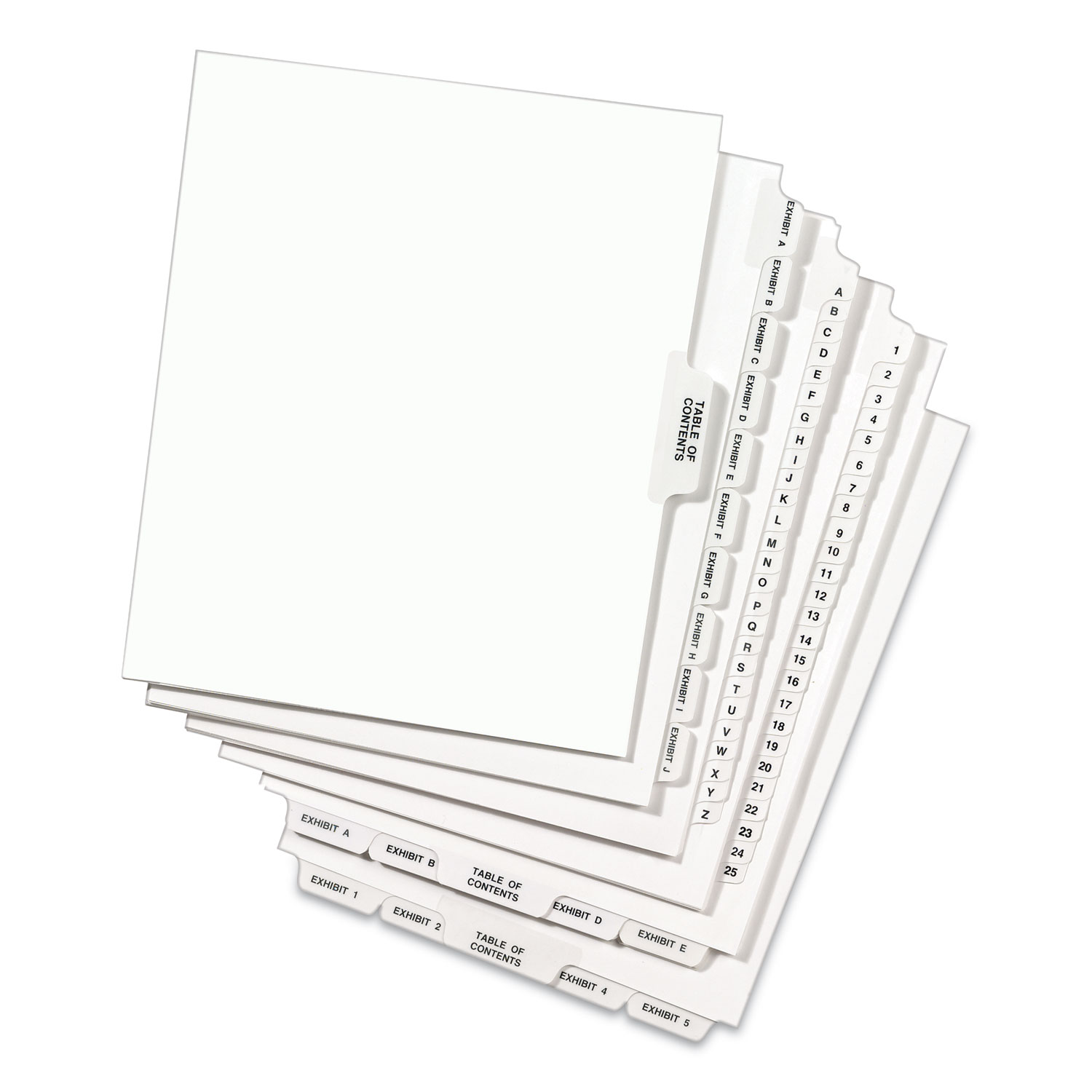 Letter Avery Legal Exhibit Tab Dividers Tab Title: 7 25//Pack White 11917