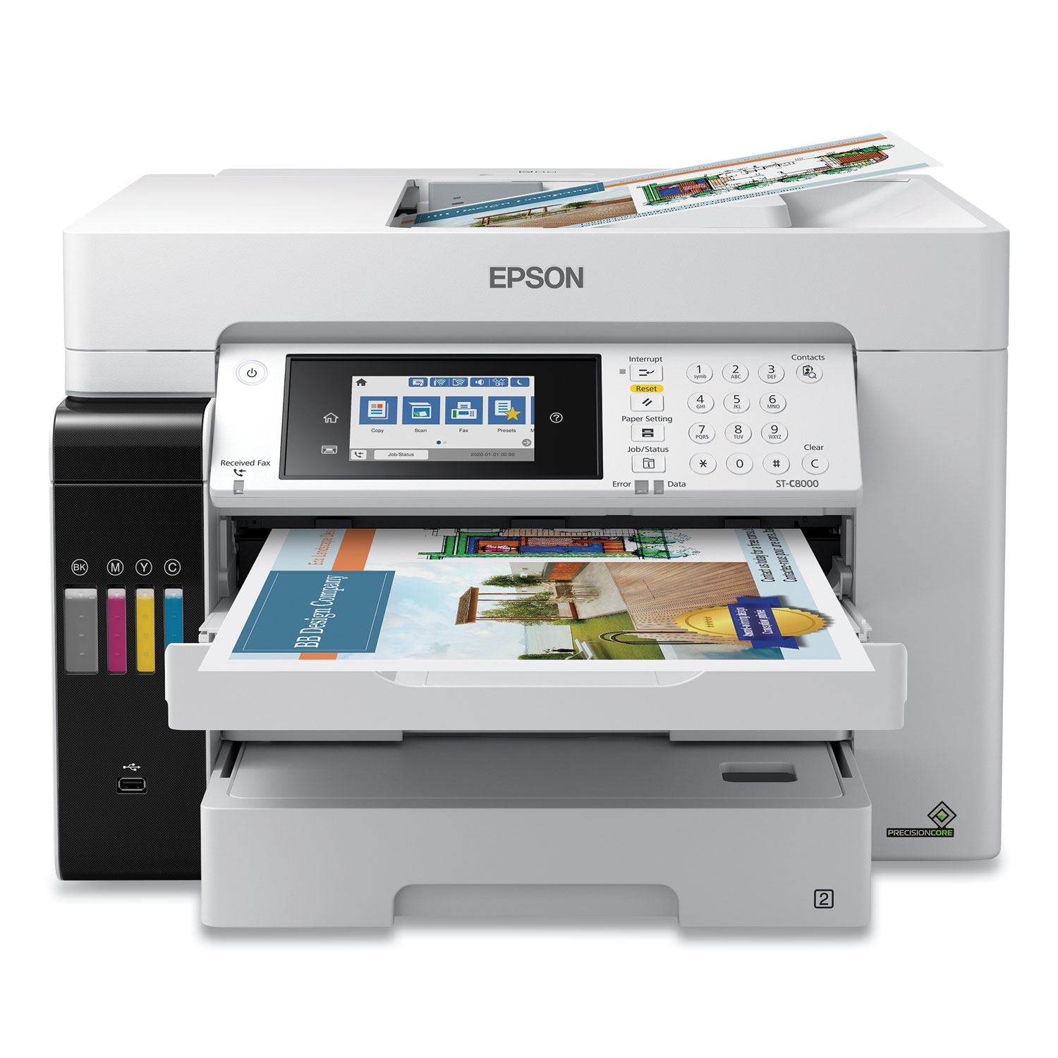 Epson® WorkForce ST-C8000 Color MFP Wide-Format Supertank Printer