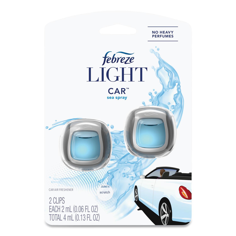 Febreze® CAR Air Freshener, Sea Spray, 2 mL Clip, 2/Pack