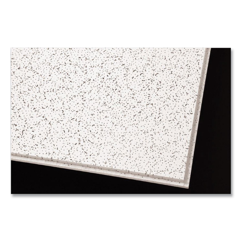 Armstrong® Cortega Angled Tegular Ceiling Tiles, 24 x 24 x 1, White, 16/Carton