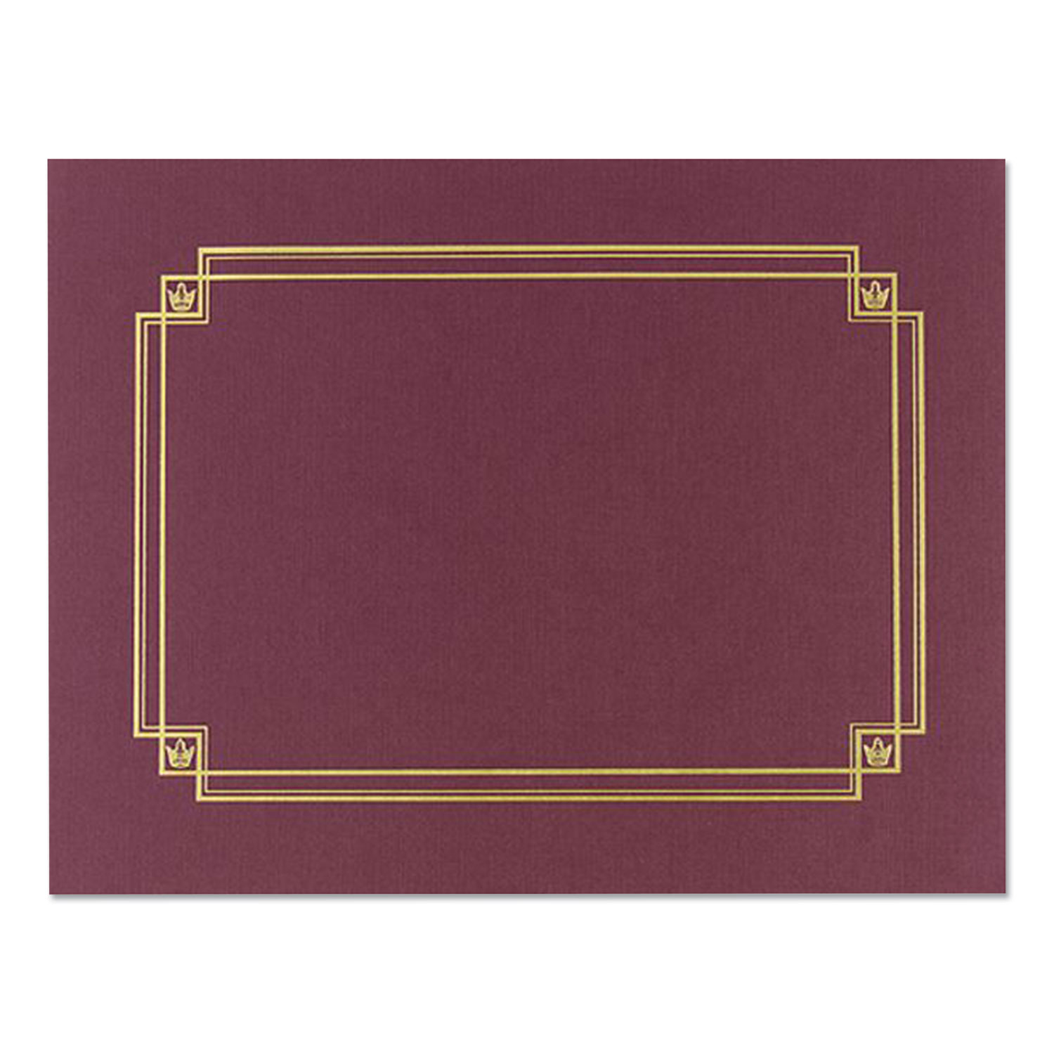Great Papers!® Premium Textured Certificate Holder, 12.65 x 9.75, Burgundy, 3/Pack