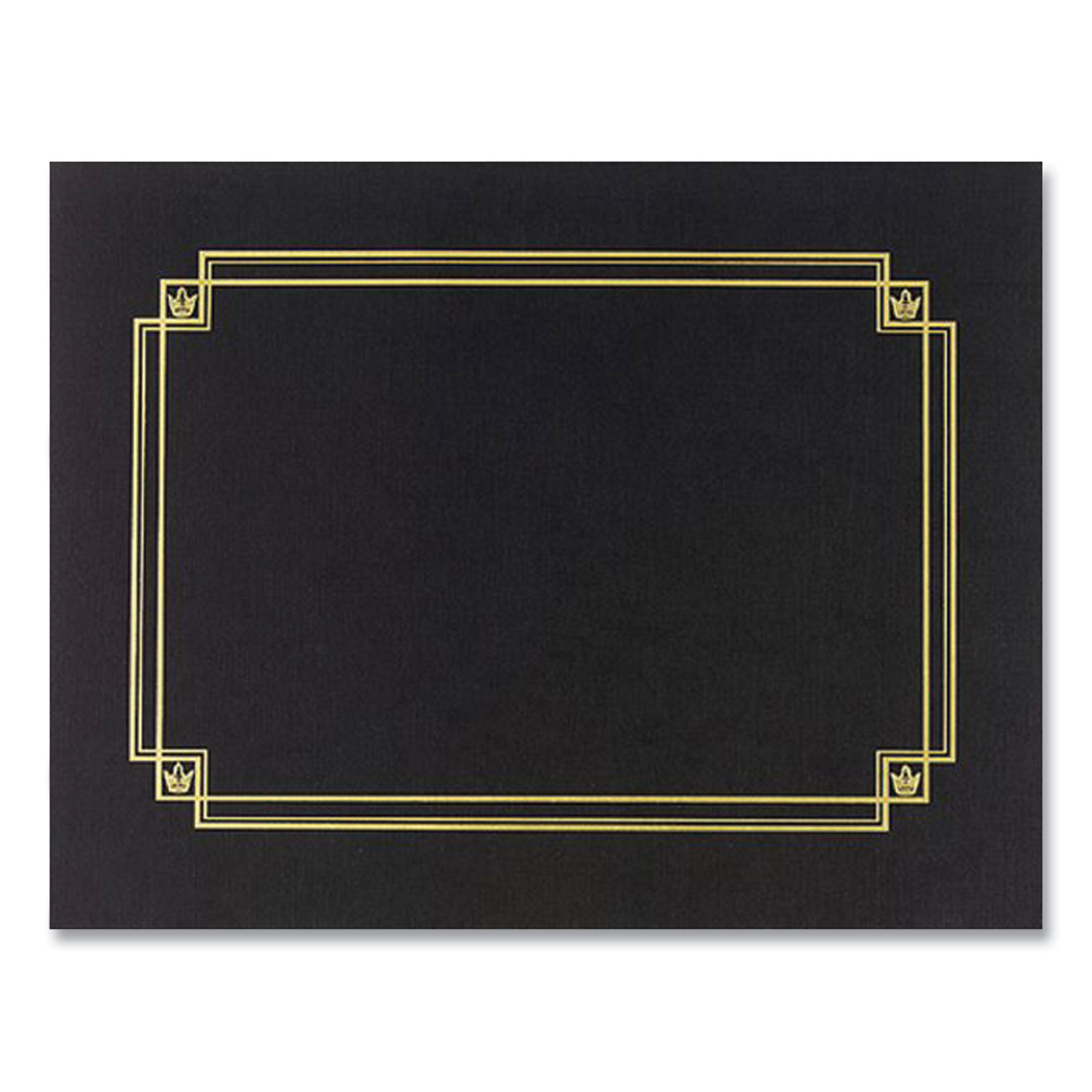 Great Papers!® Premium Textured Certificate Holder, 12.65 x 9.75, Black, 3/Pack