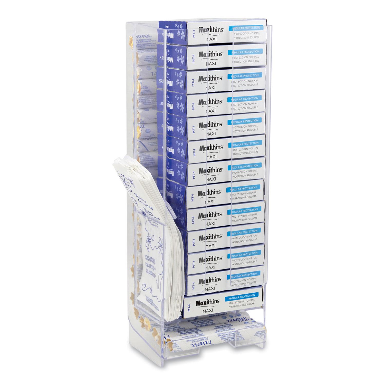 HOSPECO® Necessities Menstrual Care Courtesy Dispenser/Holder Starter Kit, 6 x 4.25 x 16, Clear