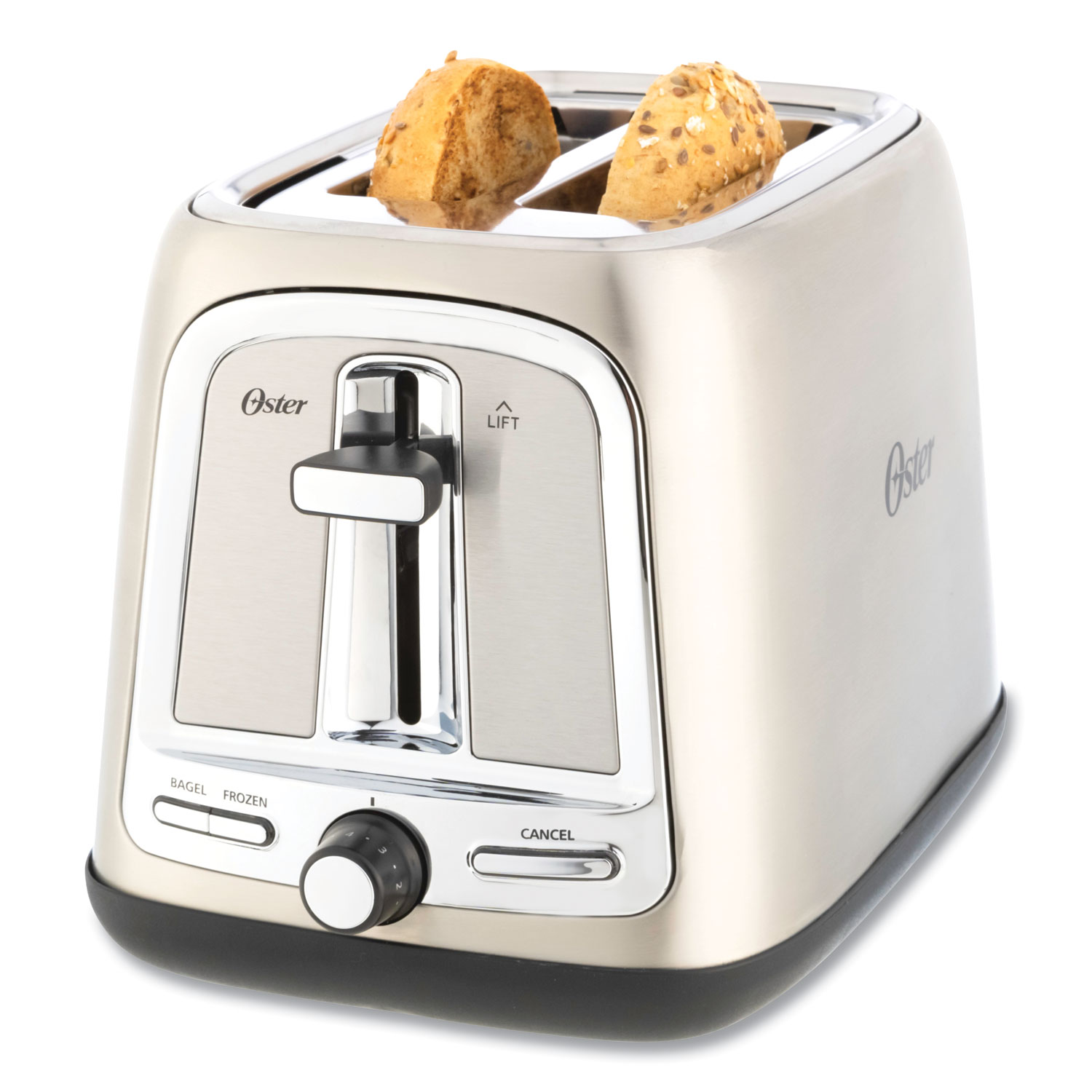 Oster® Extra Wide Slot Toaster, 2-Slice, 7.5 x 11 x 8, Stainless Steel