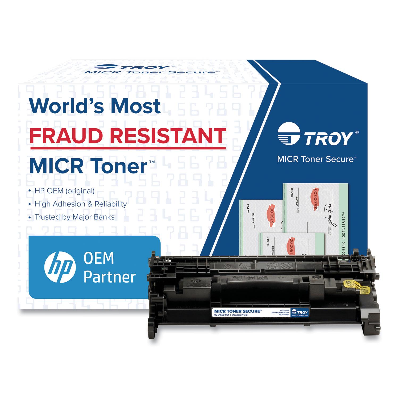 TROY® 0281680001 289A MICR Toner Secure, Alternative for HP CF289A, Black
