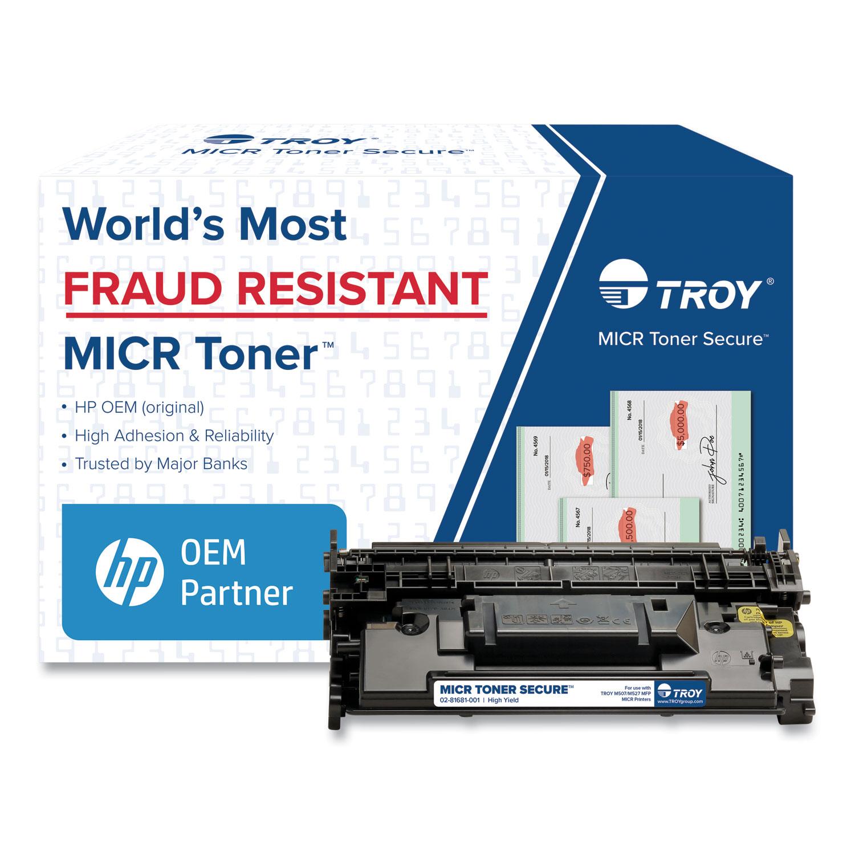 TROY® 0281681001 289X High-Yield MICR Toner Secure, Alternative for HP CF289X, Black