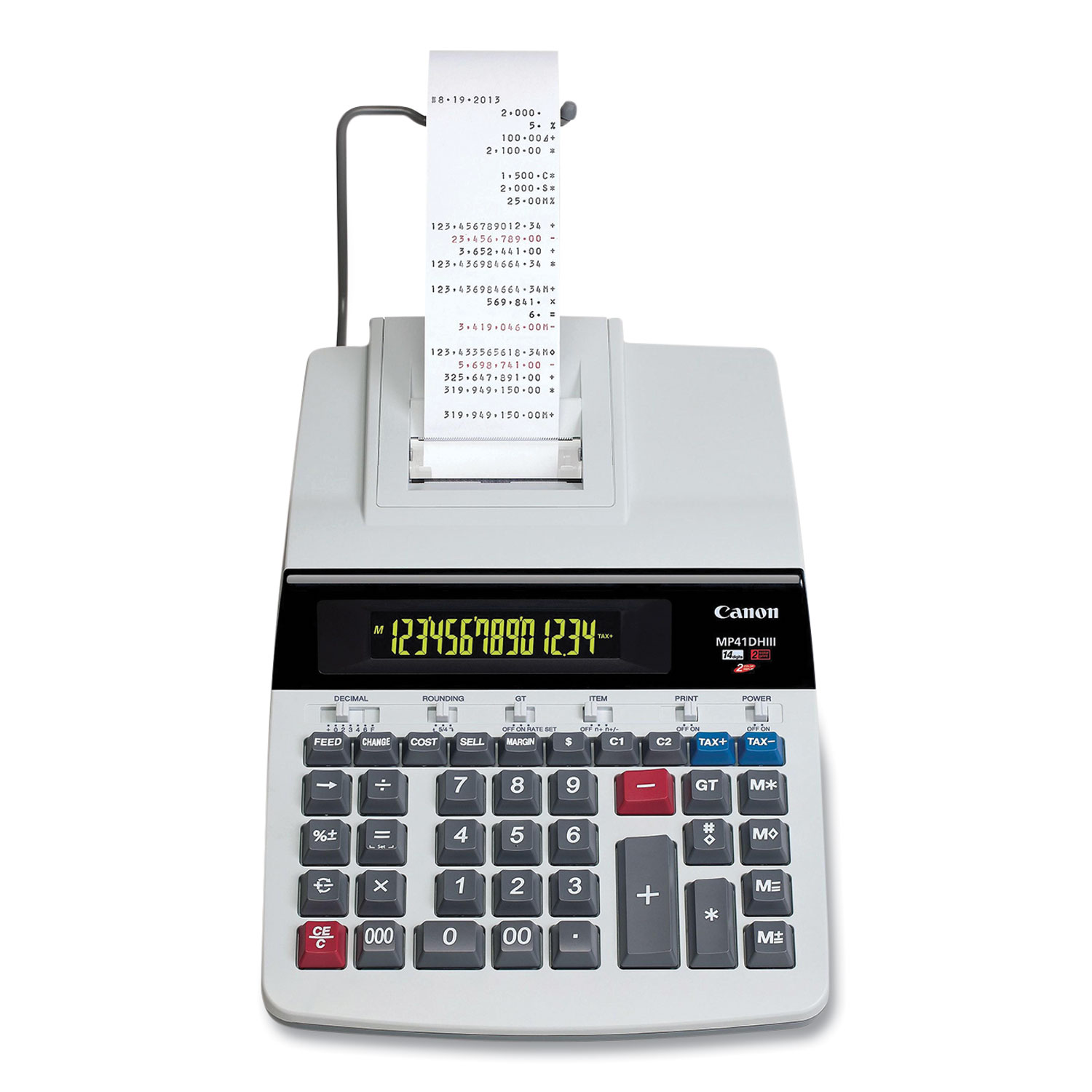 Canon® MP41DHIII 14-Digit Desktop Calculator, Black/Red Print, 4.3 Lines/Sec