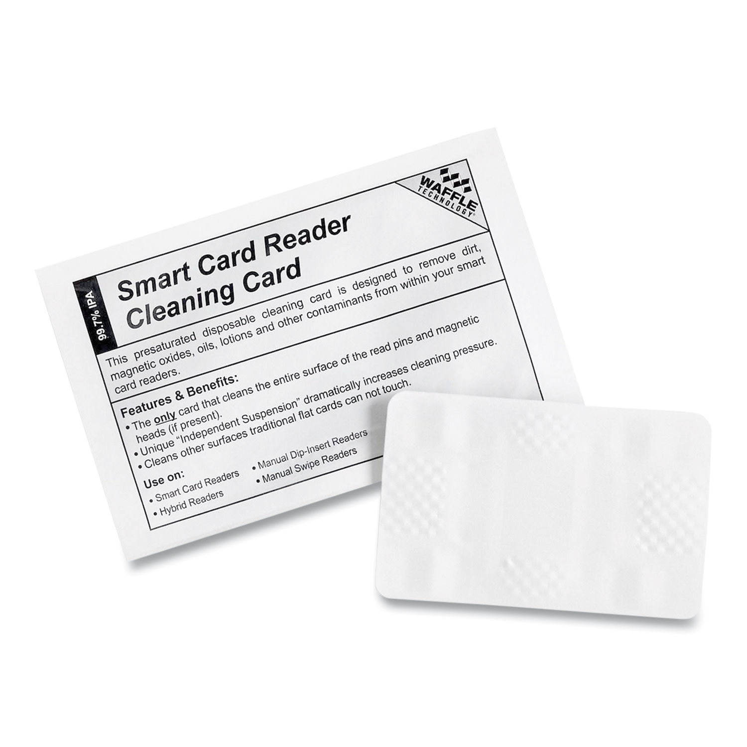 TST/Impreso, Inc. Magnetic Card Reader Cleaning Cards, 2.1 x 3.35, 40/Carton