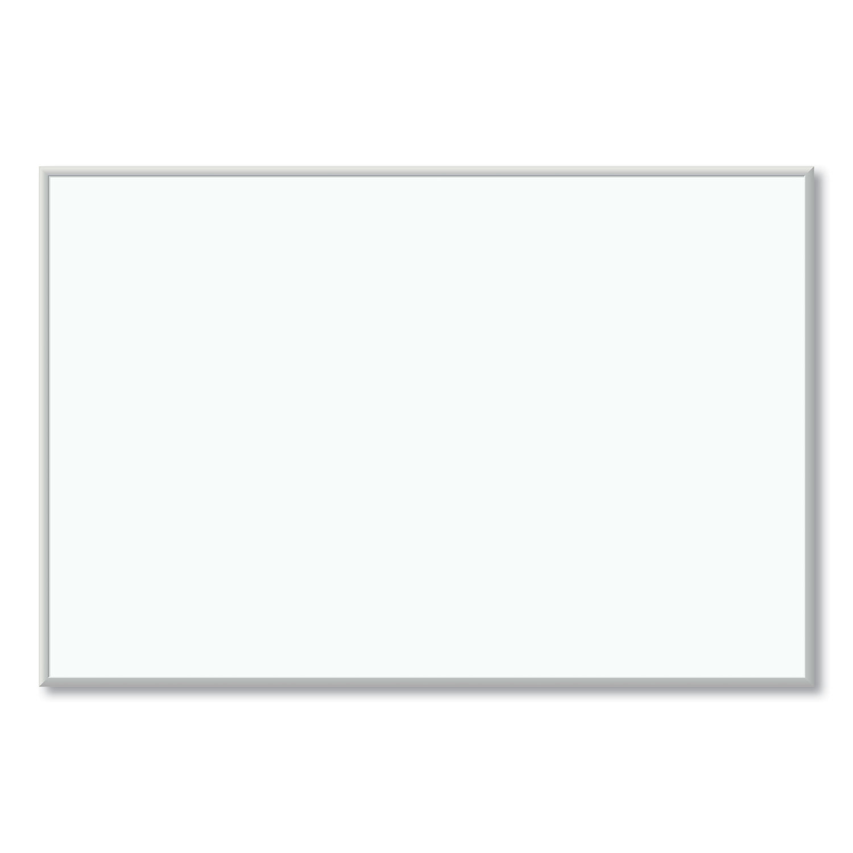 U Brands Melamine Dry Erase Board, 72 x 48, White Surface, Silver Frame