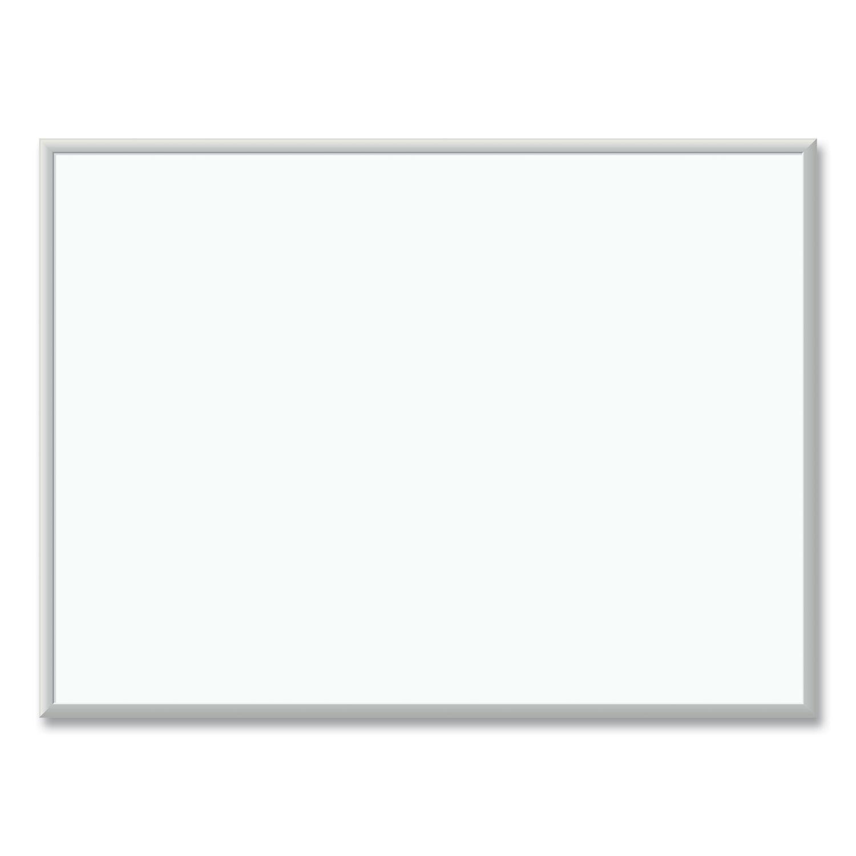 U Brands Melamine Dry Erase Board, 48 x 36, White Surface, Silver Frame