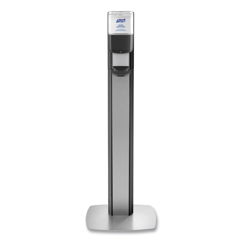 PURELL® MESSENGER ES6 Graphite Panel Floor Stand with Dispenser, 1,200 mL, 16.75 x 6 x 40, Graphite/Silver