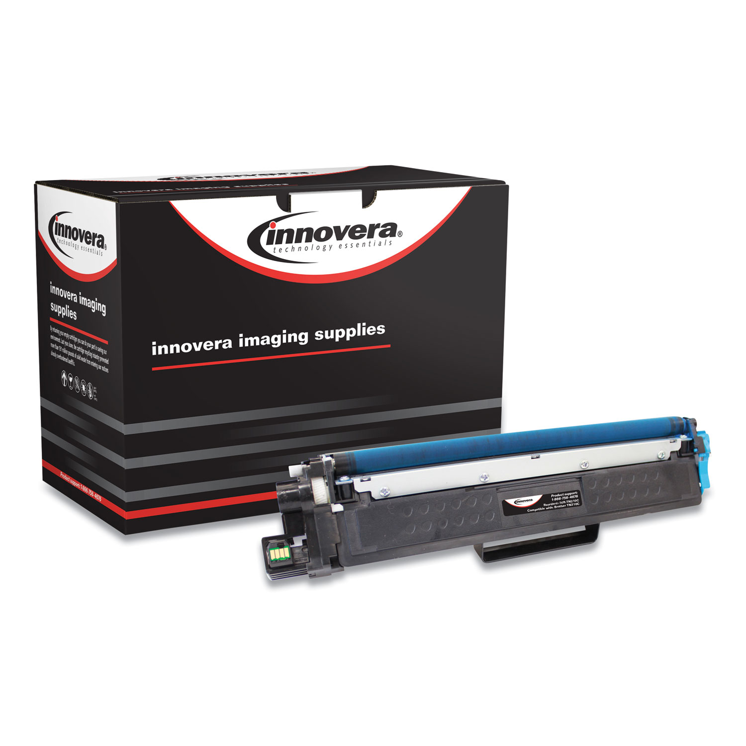 Innovera® Remanufactured Cyan Toner, Replacement for Brother TN223 (TN223C), 1,300 Page-Yield
